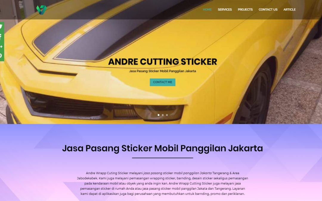 ANDRE WRAP CUTING STICKER